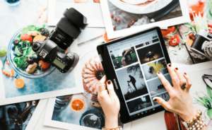 use a photo editing app to create images with impact