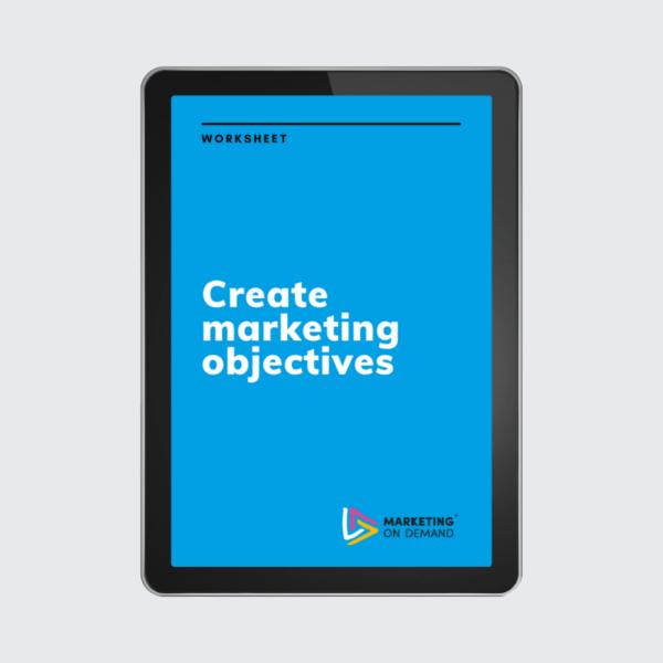 create marketing objectives worksheet